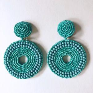 Kenneth Jay Lane Turquoise Bead Clip-On Earrings